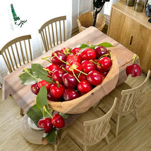 Digital Water Resistant Table Cover - Sweet Cherry