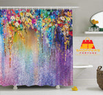 Digital Heavy Long Crush Curtains - Picasso Art of Flora