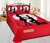 Digital Print Velvet Bedsheet - Gentleman's Proposal