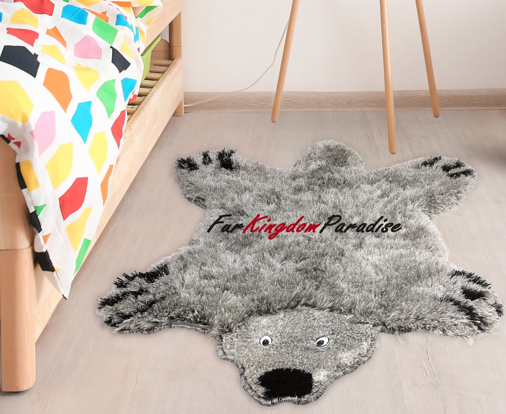FurKingdom Paradise™ Realm of Bear Rug - Grey