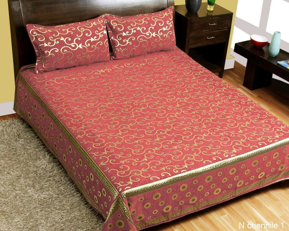 Intricate Pattern Chenille Bedcovers - F