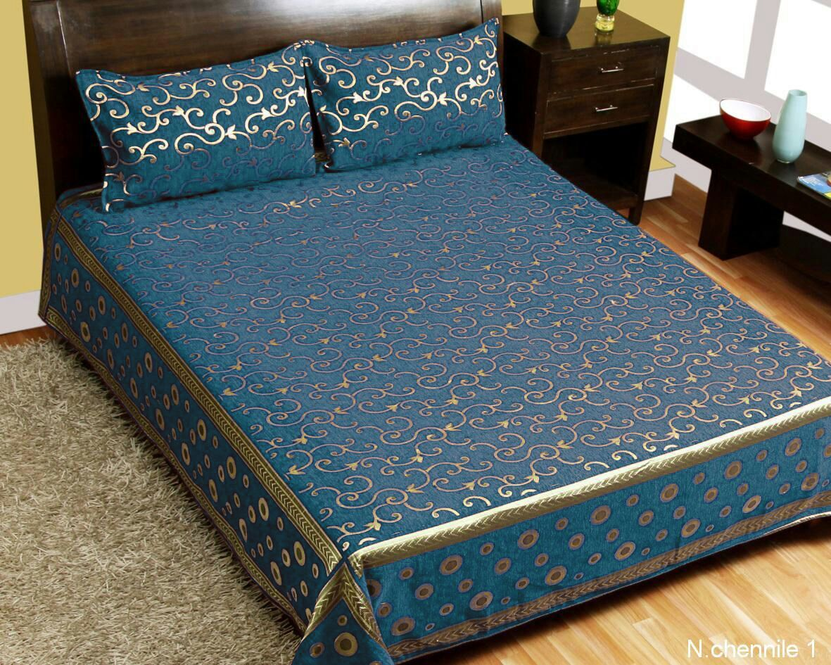 Intricate Pattern Chenille Bedcovers - H