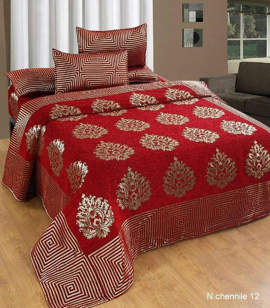 Crafty Chenille Bedcovers for Art Lovers - Red