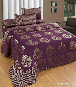 Crafty Chenille Bedcovers for Art Lovers - Purple