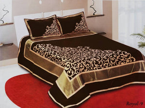 Work of Art Royal Heavy Chenille Bedcovers- Dark Brown
