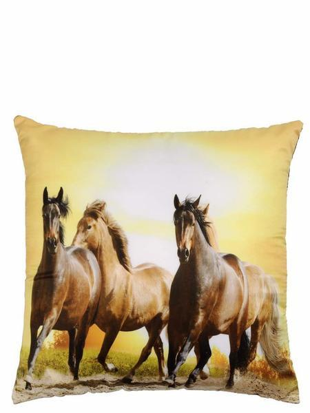 Animal Lover's Jute Cushion Covers - Horses  5 piece/set