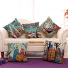 Moroccan Style Architecture Jute Cushion Covers - 5 Piece/Set