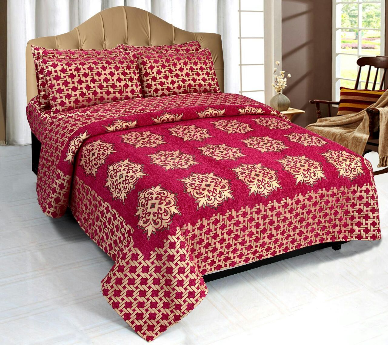Network of Spades Chenille Bedcovers - B