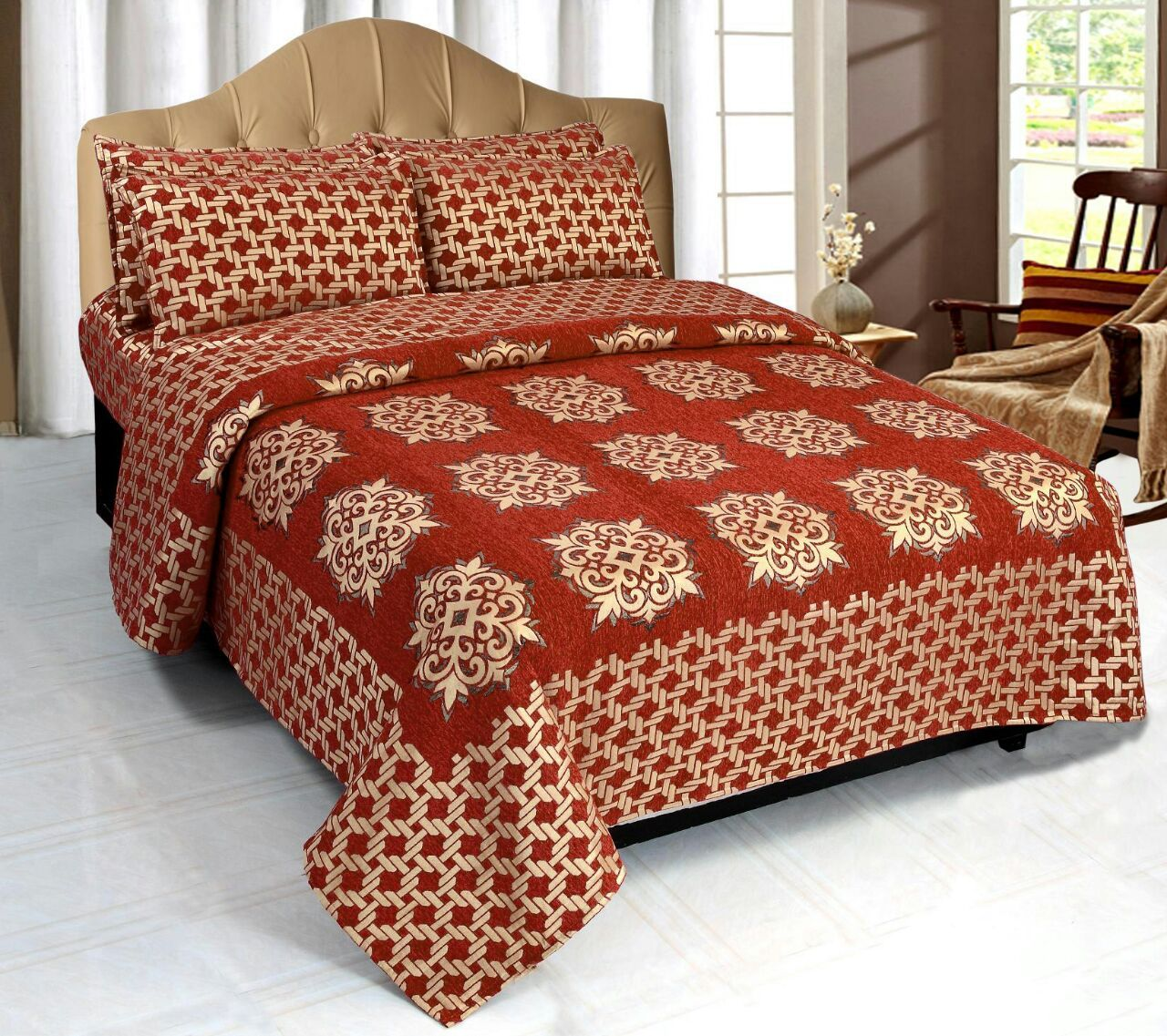 Network of Spades Chenille Bedcovers - G