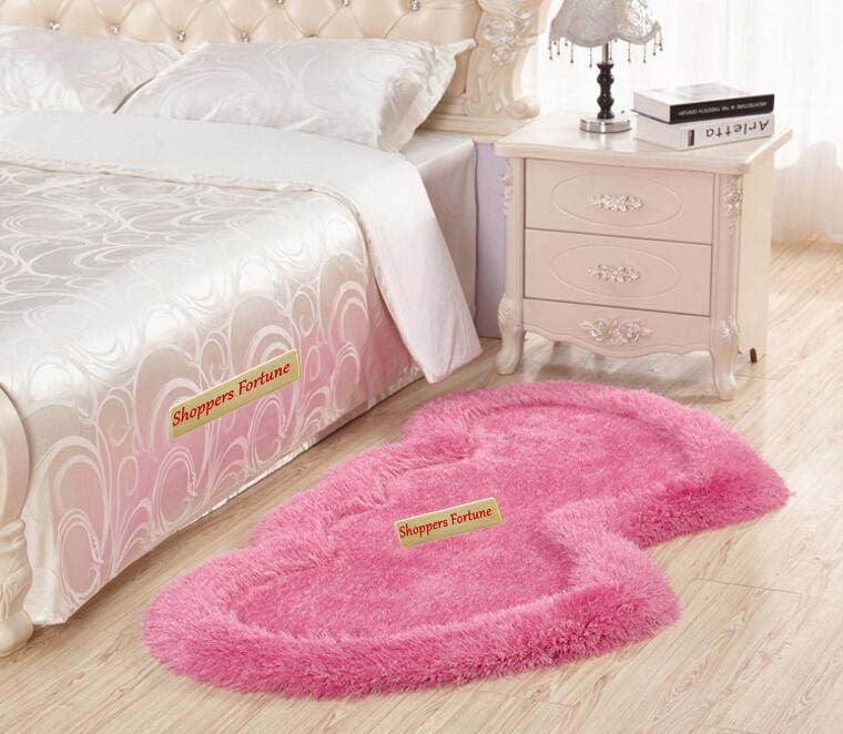 Twin Heart Bedside Runners - Pink Color