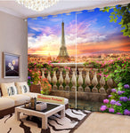 Premium Blackout Digital Curtains - Mesmerizing Eiffel Tower(Set of 2) 2020 Edition