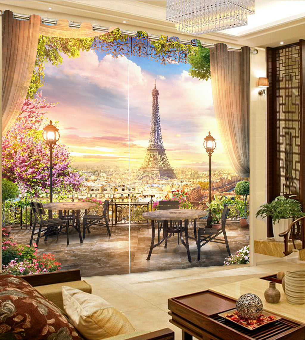 Premium Blackout Digital Curtains - Vacation in Paris(Set of 2) 2020 Edition