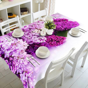 Digital Water Resistant Table Cover - Beauty of Lavender