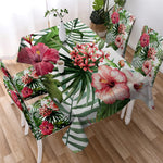 Digital Water Resistant Table Cover - Classic Flora