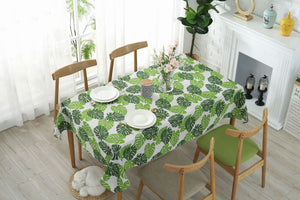 Digital Water Resistant Table Cover - Palm Leaves
