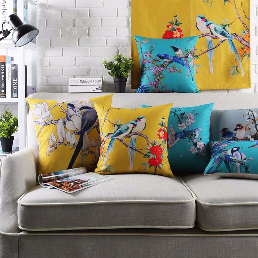 House of Sparrows Cotton Feel Cushion Covers - 5 Piece/Set
