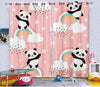 Kids Cartoon Blackout Curtains - Hello Panda (Set of 2)