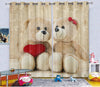 Kids Digital Blackout Curtains - Cutesy Teddy Couple (Set of 2)