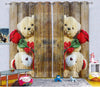 Kids Digital Blackout Curtains - Sneaky Time with Teddy (Set of 2)