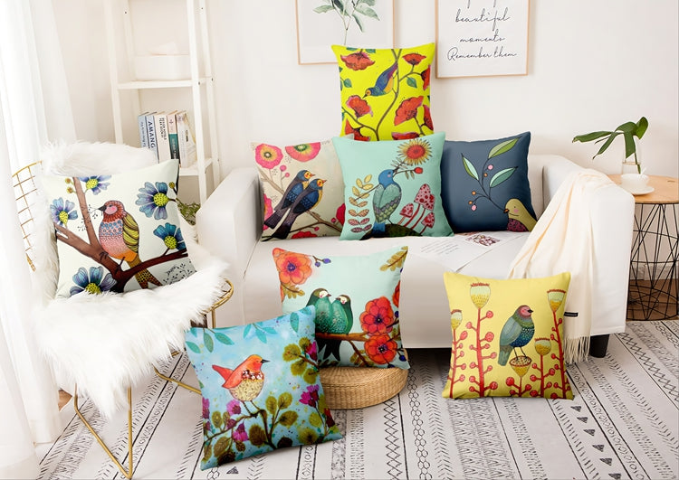 Scintillating Sparrows Cotton Feel Cushion Covers - 5 Piece/Set