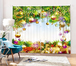 Christmas Theme Blackout Curtains - Fir Tree & Gifts(Set of 2)