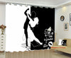 Classic Vintage Couple Blackout Curtains - Be Mine Forever(Set of 2)