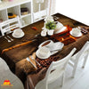 Digital Water Resistant Table Cover - Coffee Time