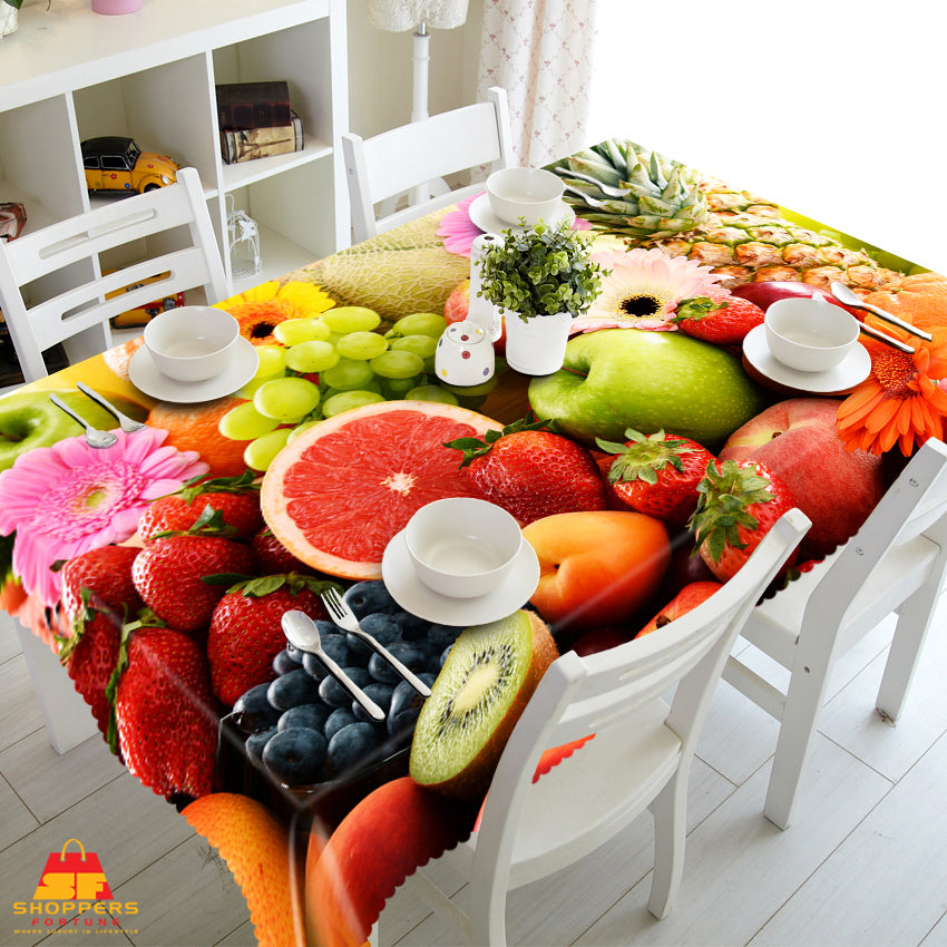 Digital Water Resistant Table Cover - Fruit Chaat