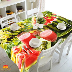 Digital Water Resistant Table Cover - Watermelon Shake