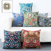 Ethnic Floral Pattern Cotton Feel Cushion Covers - 5 Piece/Set