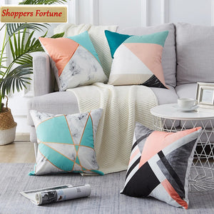 Modern Multi-Color Striped Cotton Feel Cushion Covers - 5 Piece/Set