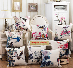 Legend of Sparrows Cotton Feel Cushion Covers - 5 Piece/Set
