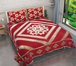 Morning Blossoming Flowers Chenille Bedcovers - Red