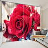 Premium Blackout Digital Curtains - Forever Young Roses(Set of 2)