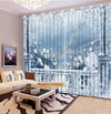 Premium Blackout Digital Curtains - Frozen Haven(Set of 2)