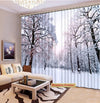 Premium Blackout Digital Curtains - Frozen Woods(Set of 2)