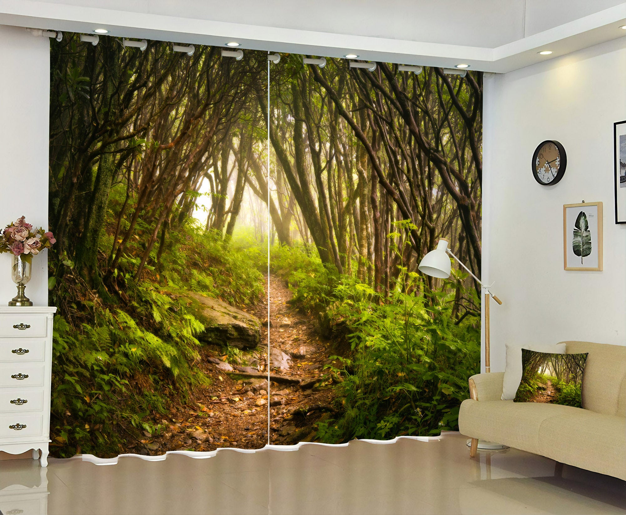Premium Blackout Digital Curtains - Journey into the Woodland(Set of 2)