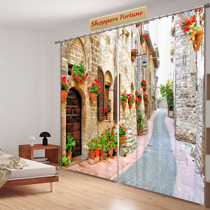 Premium Blackout Digital Curtains - Welcome to Rome(Set of 2)