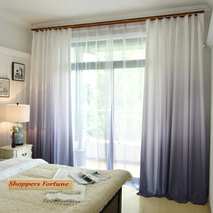 Shading Effect Premium Blackout Curtains - Purple