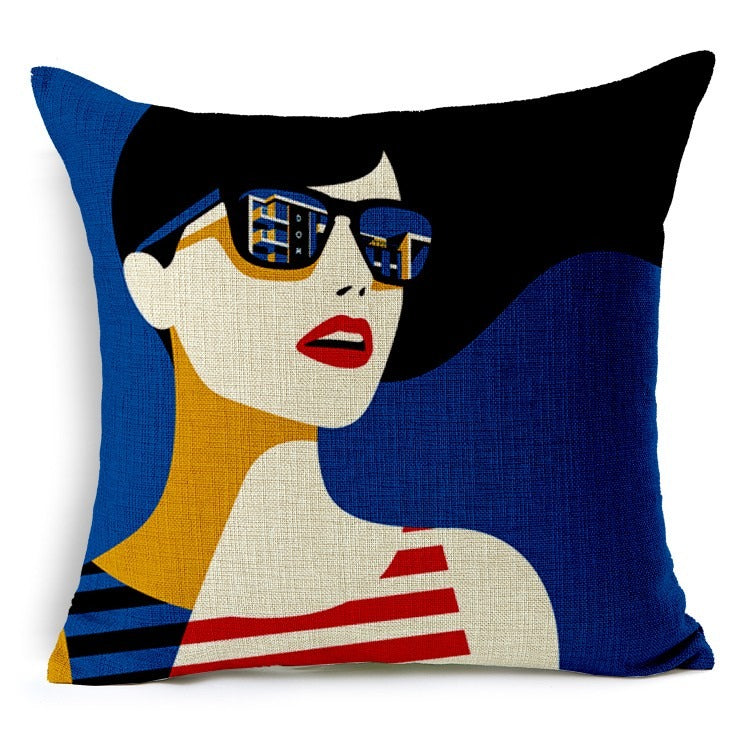 Vintage Fashion Jute Cushion Covers - 5 Piece/Set