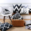 Sparrow Vignette Black & White Edition Cotton Feel Cushion Covers - 5 Piece/Set