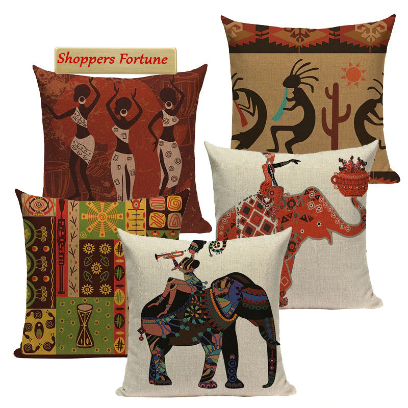 Traditional Huddle Cotton Feel Cushion Covers - 5 Piece/Set