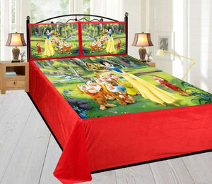 Digital Velvet Bedsheet Snow White