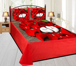 Digital Velvet Bedsheet Rose Petals