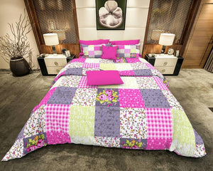 Multi-Color Square Pattern Bed Comforters