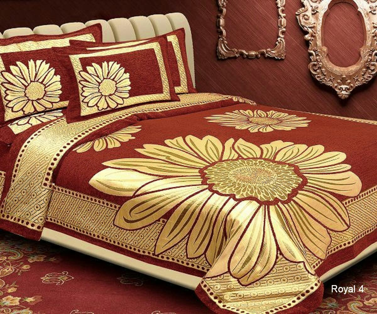 Floral Pattern Heavy Chenille Bedcovers - I