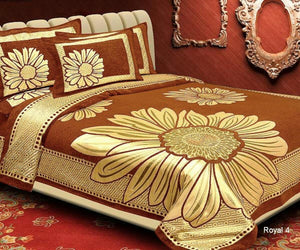 Floral Pattern Heavy Chenille Bedcovers - J