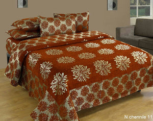 Morning Blossoming Flowers Chenille Bedcovers - G