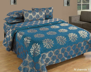 Morning Blossoming Flowers Chenille Bedcovers - A