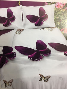 Beautiful Butterfly Glace Cotton Bedsheet